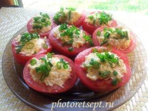помидоры с сыром с чесноком