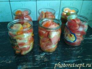 томаты по банкам дольки