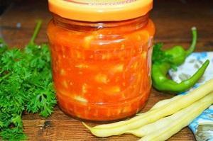 фасоль салат на зиму