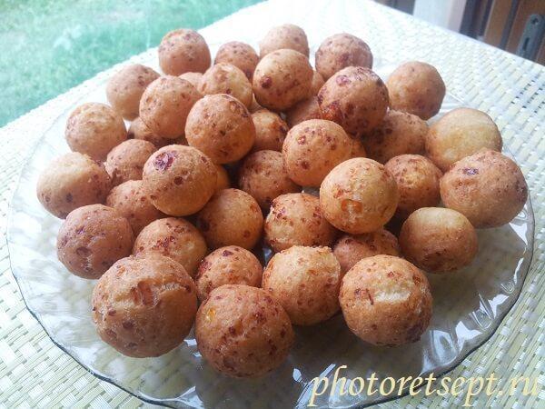 рецепт творожных шариков с фото