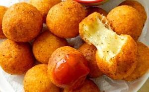 сырные пончики с начинкой