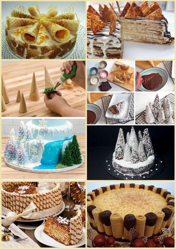 вафли украшение для торта