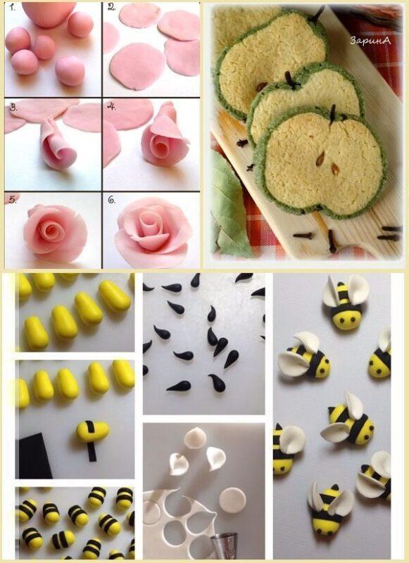 украшение торта марципаном дома