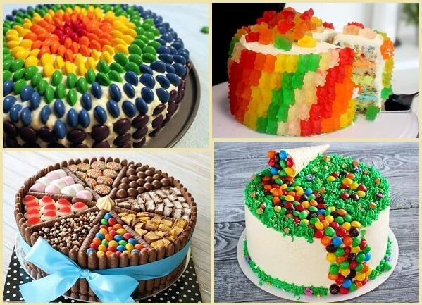 мармелад и конфеты украшение торта