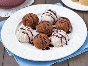 шарики из творога с шоколадом