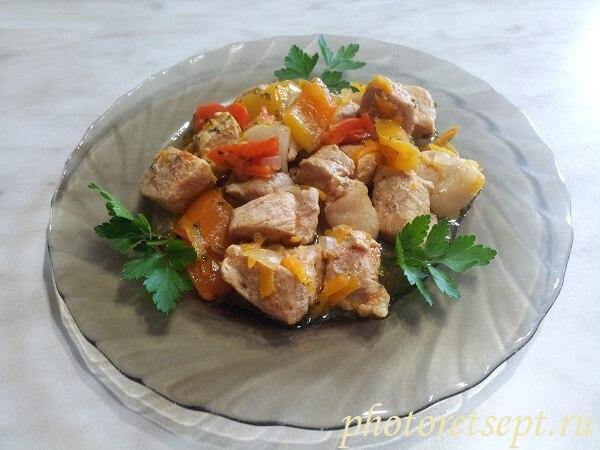 свинина с перцем болгарским в мультиварке рецепт