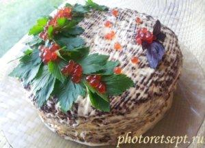 торт из печени рецепт с фото