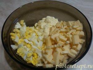 яйца кальмары сыр