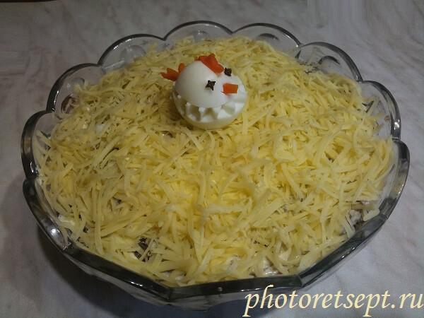 салат курочка ряба слоями