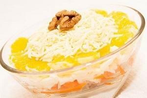 салат восторг с ананасом и корейской морковью
