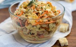 салат восторг с корейской морковью и фасолью