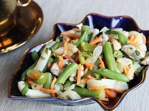 салат восторг стручковая фасолью