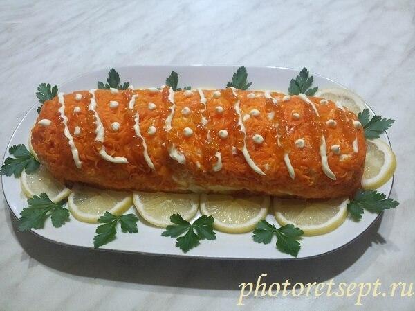 салат царский рулет рецепт
