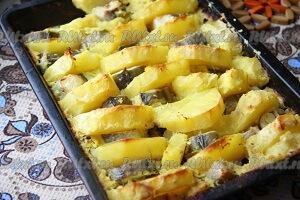 хек с картошкой
