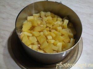 картофель вареный слой