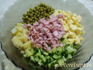 ветчина в салат