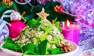 фруктовый салат елка