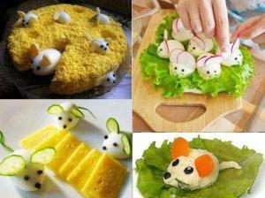 украсить салат мышка фото 1
