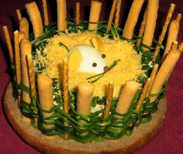 украсить салат мышка фото 4