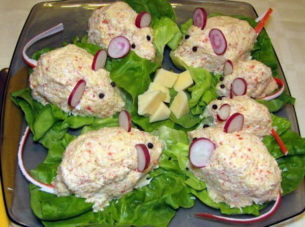 украсить салат мышка фото 6