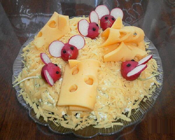 украсить салат мышка фото 8