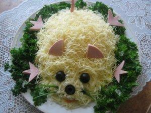 украсить салат мышка фото 9