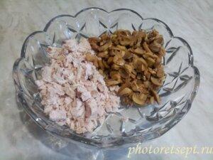 курица грибы салатник