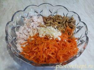 чеснок в салат