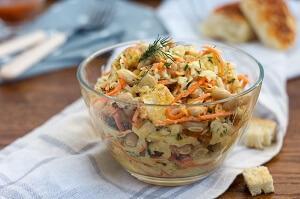 салат с фасолью морковкой