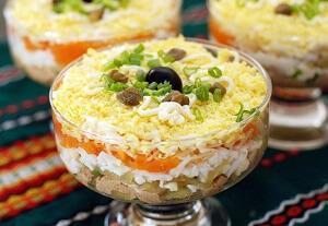 салат скумбрия