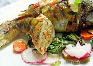 Блюдо из судака с рисом