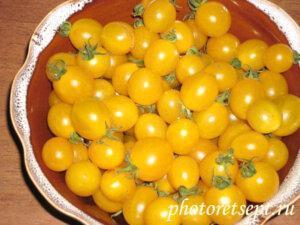 помидоры черри желтые