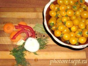 овощи для маринования помидоров