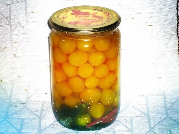 желтые помидоры черри рецепт на зиму