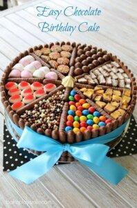 детский торт печенье и конфеты 4
