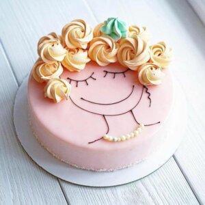торт детский украшение кремом 2