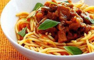 баклажаны со спагетти