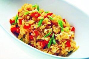 рис с овощами гарнир