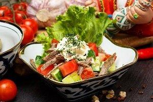 бахор узбекский салат