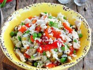 итальянский салат горошек