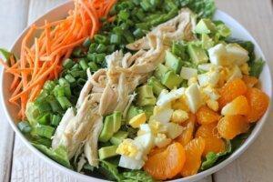 салат с мандаринами и морковкой