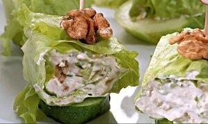 рулеты салат сырный