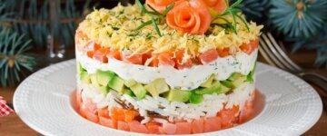салат новый год красная рыба