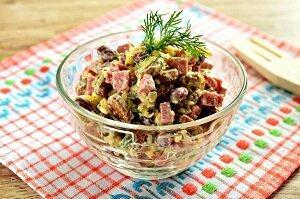 салат с фасолью легкий