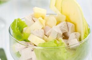 куриный салат с яблоком