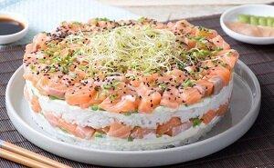 салат суши новогодний