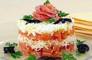 салат семга грейпфрут