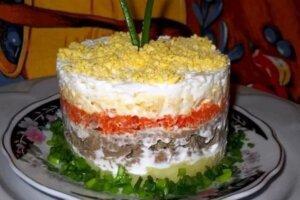 салат сытый барин с печенью