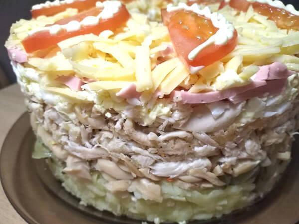 салат сытый барин слои