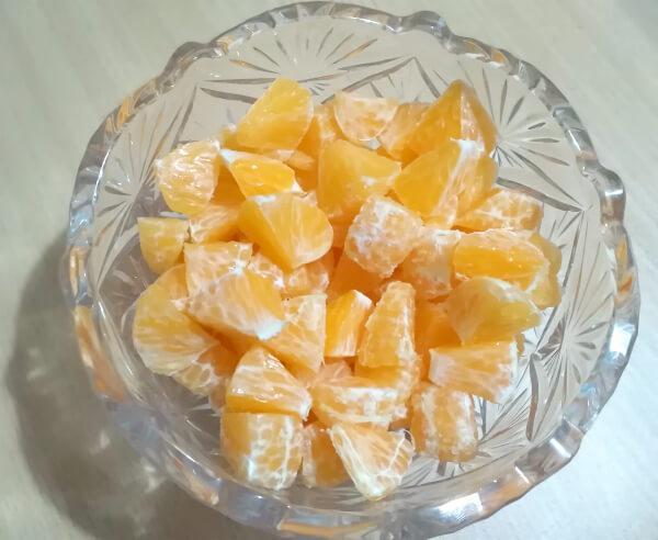 мандарины нарезанные